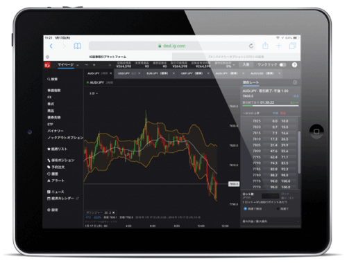 iPadでバイナリーオプション特集!銘柄の豊富さで選ぶならIG証券!