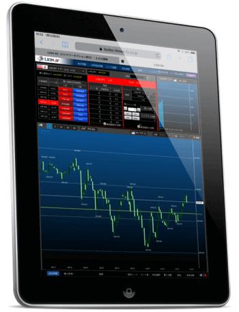 【ヒロセ通商】iPadでバイナリー特集!新型チャート搭載の「LION BO」に注目!