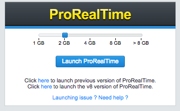 Launch ProRealTime
