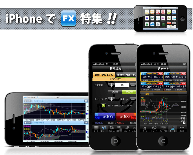 iPhoneでFX特集