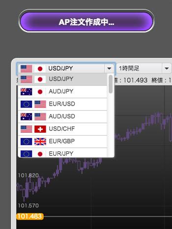 トライオートFX取扱い通貨ペア