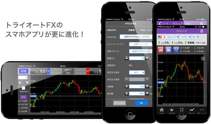 トライオートFX専用スマホアプリ