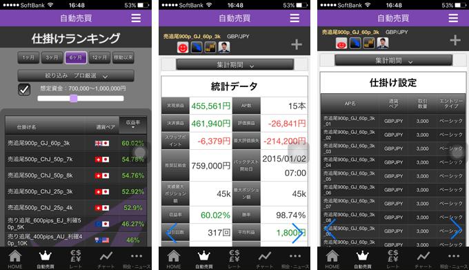 トライオートFXスマートフォンアプリから仕掛けランキング