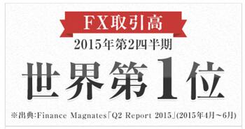 2015年第2四半期FX取引高、世界第1位