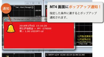 FXTF MT4 新機能「アラームマネージャー」