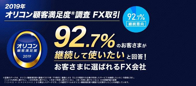 オリコン顧客満足度調査FX取引