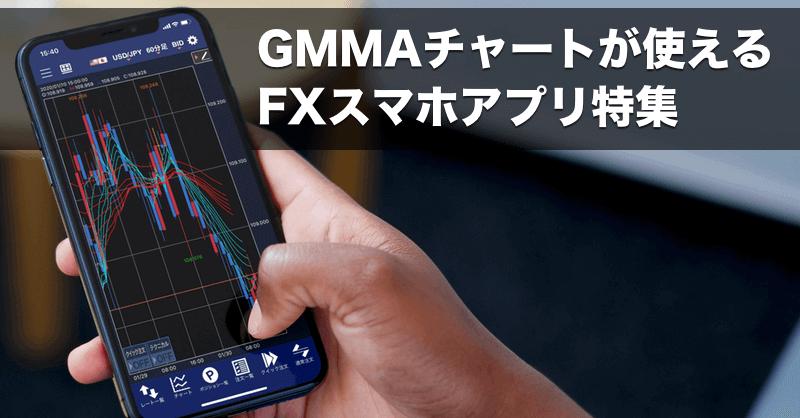 GMMAチャートを搭載しているFXスマホアプリ