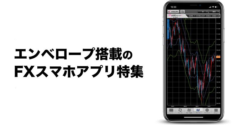 エンベロープ搭載のiPhone/Android FXスマホアプリ特集
