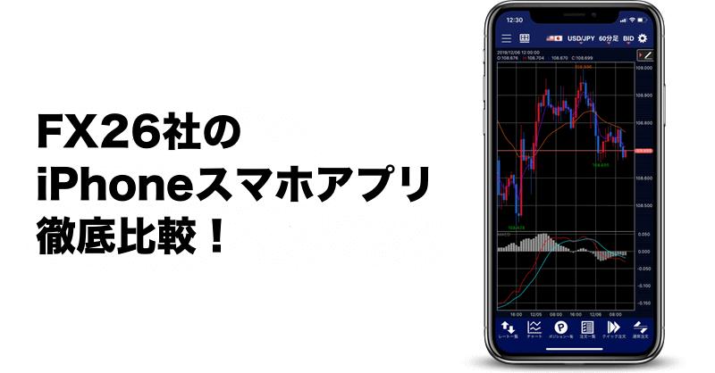 FX26社のiPhoneスマホアプリ徹底比較!