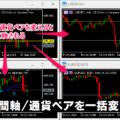時間軸/通貨ペアを一括変換するMT4/MT5インジケーター