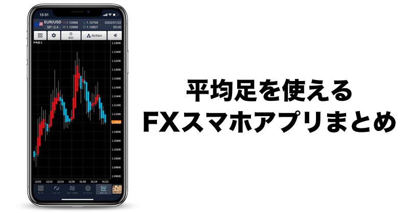 スマホアプリでFX平均足