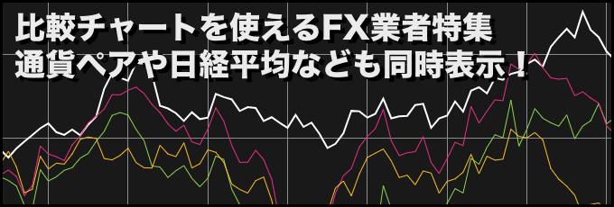 比較チャートを使えるFX業者特集